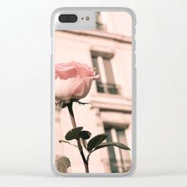 Paris in Blush Pink II Clear iPhone Case