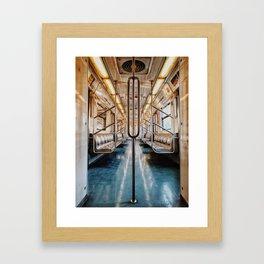 Golden Subway Framed Art Print