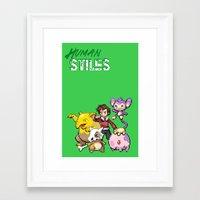 stiles stilinski Framed Art Prints featuring PokeWolf: Stiles Stilinski by Trickwolves