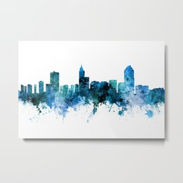 Raleigh North Carolina Skyline Metal Print