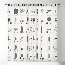 European Tree Fruits Blackout Curtain