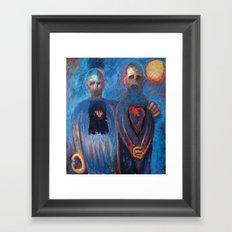 They Shared a Secret Framed Art Print