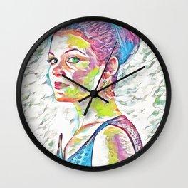 Ginnifer Goodwin (Creative Illustration Art) Wall Clock