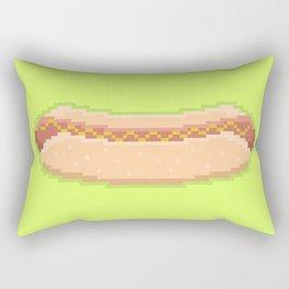 Pixel Hot Dog Rectangular Pillow