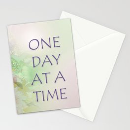 One Day at a Time Spring Flowers Stationery Cards