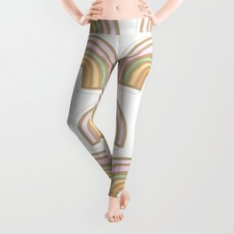 Rainbow No. 10 - delicate golden jewel Leggings