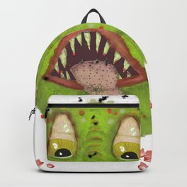 green monster with flies Backpack