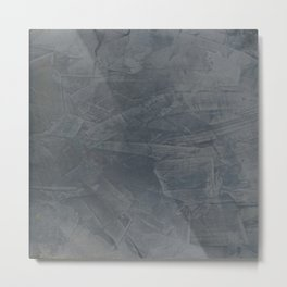 Slate Gray Stucco - Faux Finishes - Rustic Glam Metal Print