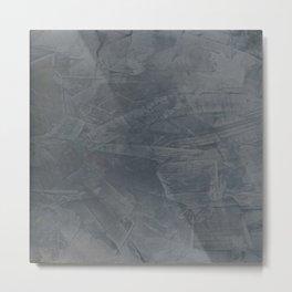 Slate Gray Stucco - Faux Finishes - Rustic Glam - Corbin Henry Venetian Plaster Metal Print
