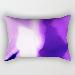 Purple Passion Abstract Art Rectangular Pillow