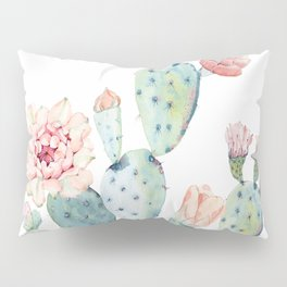 Cactus 2  White #society6 #buyart Pillow Sham