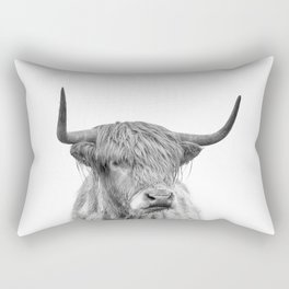 Highland Bull Portrait Rectangular Pillow