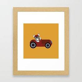 Koala Racer Framed Art Print