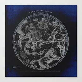 NY, Constellations Canvas Print