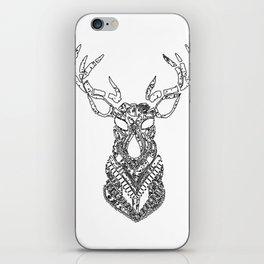 Christmas Reindeer Decorative Art iPhone Skin