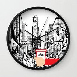 Krk in NY Wall Clock