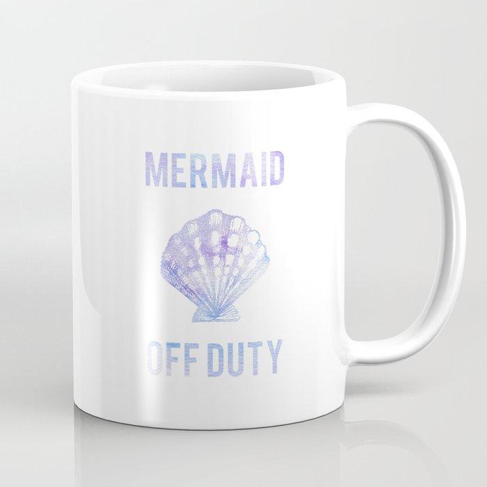 Mermaid Off Duty Purple Blue Seashell Coffee Mug By Hellomonday Society6