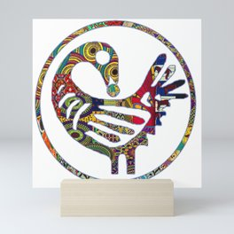 Groovy Sankofa Bird Mini Art Print