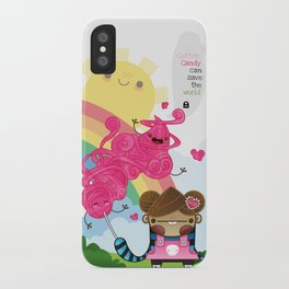 Cotton Candy can save the world!!! iPhone Case