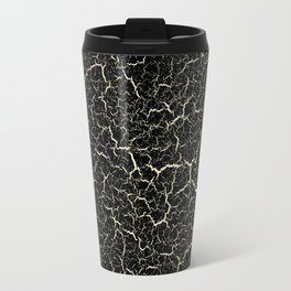 Black Crackle Travel Mug