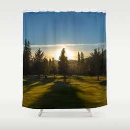 Sunset of the Golf Course Shower Curtain