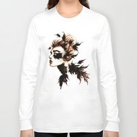 crow Long Sleeve T-shirts featuring Crow by Nora Bisi