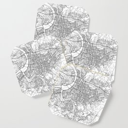 Taipei White Map Coaster