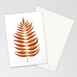 Gold and Copper Palm Leaf Stationery Cards