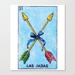 Las Jaras Mexican Loteria Bingo Card Canvas Print