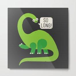 Au Revoirosaurus Metal Print