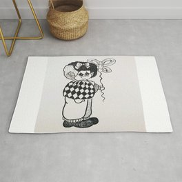 sad clown Rug