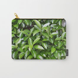 Green glossy leaves Carry-All Pouch