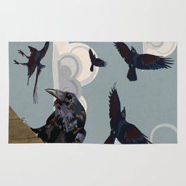 Invasion of the Crows Rug