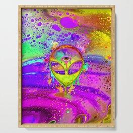 Alien Melt - yellow Serving Tray