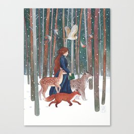 Through the Forest Canvas Print