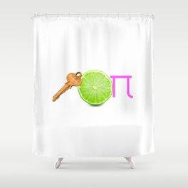 Key Lime Pi Shower Curtain
