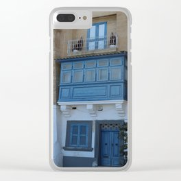 A Blue Entrance Clear iPhone Case