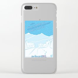 A Winter Haiku (AwkwardIRL #11) Clear iPhone Case
