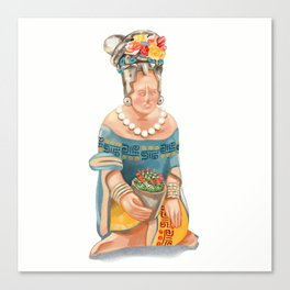 Mesoamerican Seated Woman Canvas Print