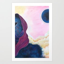 When Worlds Collide I Art Print