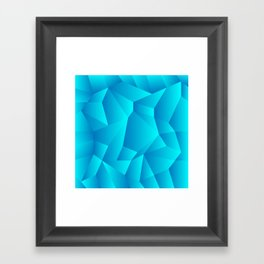 Mountain Grid Gradient Framed Art Print