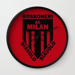 Slogan: Ac Milan Wall Clock