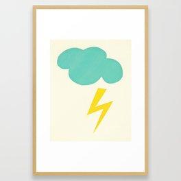 Lightning Strike Framed Art Print
