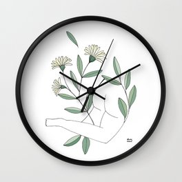 Flower lounging Wall Clock