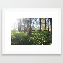 Shining Field Framed Art Print