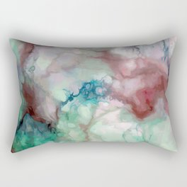 Colorful watercolor marble Rectangular Pillow