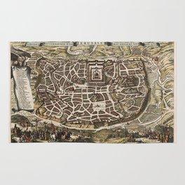 Map Of Jerusalem 1643 Rug