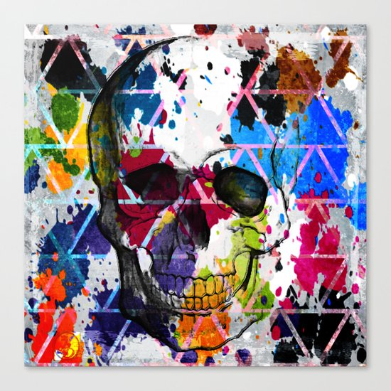 Abstract Skull Canvas Print