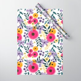 Spring Floral Bouquet Wrapping Paper