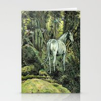 pixies Stationery Cards featuring Unicorn & Pixies by Mike Lowe